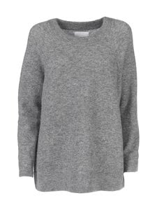 Samsoe & Samsoe - Nor O-Neck Long -neule - GREY MEL | Stockmann