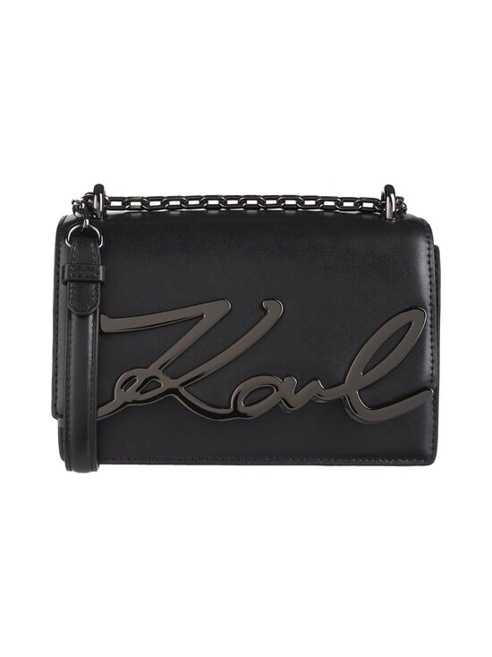 Karl Lagerfeld - K/Signature Small Shoulderbag -nahkalaukku - A991 BLACK/GUN METAL | Stockmann - photo 1