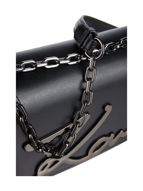 Karl Lagerfeld - K/Signature Small Shoulderbag -nahkalaukku - A991 BLACK/GUN METAL | Stockmann - photo 3