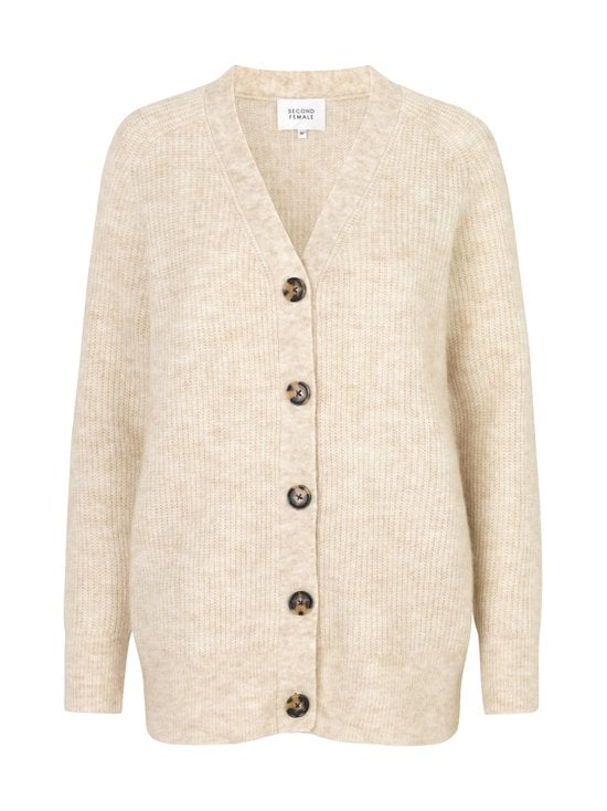 SECOND FEMALE - Koorb Knit Cardigan -neuletakki - 1021 MARZIPAN | Stockmann - photo 1