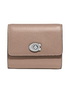 Coach - Signature Turnlock Small Wallet -nahkalompakko - LH/TAUPE | Stockmann