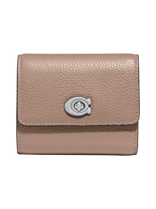 Coach - Signature Turnlock Small Wallet -nahkalompakko - LH/TAUPE | Stockmann - photo 1