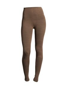 Casall - Wool Rib Tights -leggingsit - 153 BLACK BEIGE RIB | Stockmann