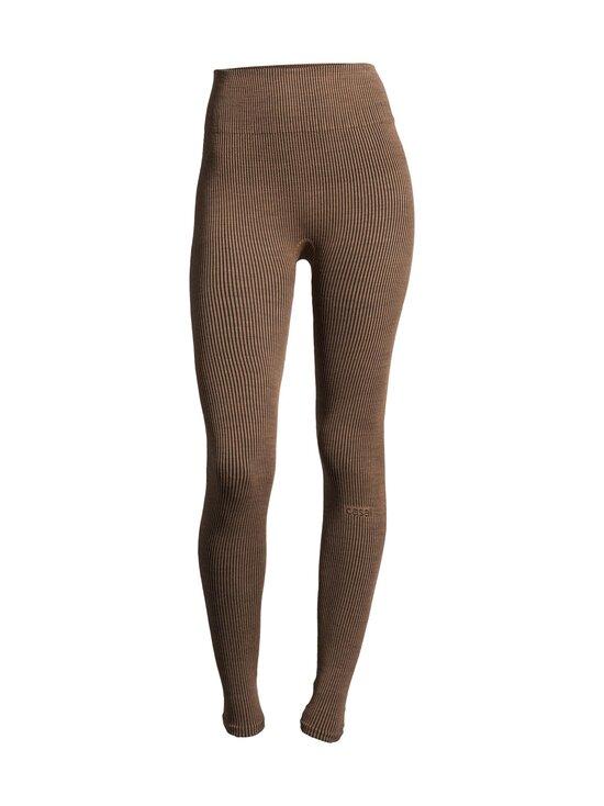 Casall - Wool Rib Tights -leggingsit - 153 BLACK BEIGE RIB | Stockmann - photo 1