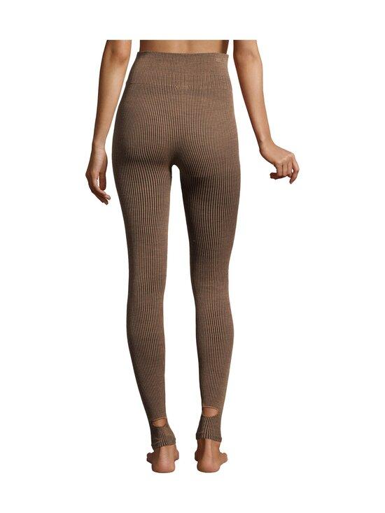 Casall - Wool Rib Tights -leggingsit - 153 BLACK BEIGE RIB | Stockmann - photo 2
