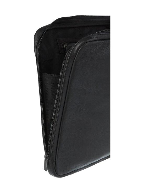 CONSTRUE - Carl Computer Sleeve -nahkainen suojatasku kannettavalle - BLACK | Stockmann - photo 3