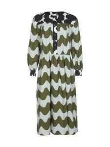 Marimekko - CO-CREATED Hohtosini dress -mekko - 116 DARK GREEN, OFF-WHITE, BLACK | Stockmann
