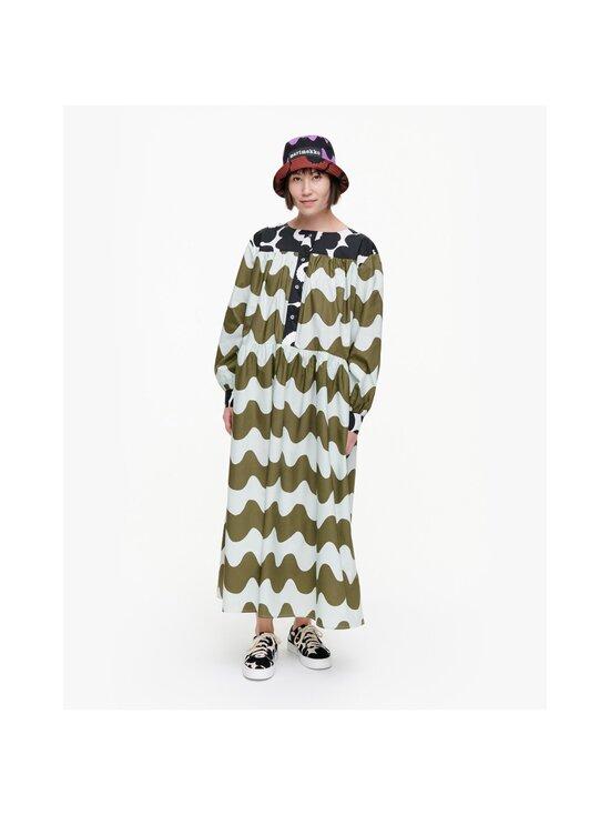 Marimekko - CO-CREATED Hohtosini dress -mekko - 116 DARK GREEN, OFF-WHITE, BLACK   Stockmann - photo 3