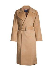 GANT - Wool Blend Belted Coat -villakangastakki - 213 WARM KHAKI | Stockmann