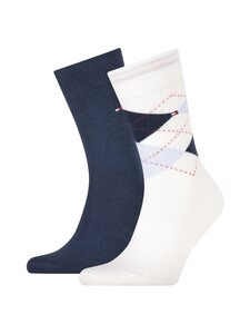Tommy Hilfiger - TH Men Sock Check -sukat 2-pack - WHITE COMBO 101   Stockmann