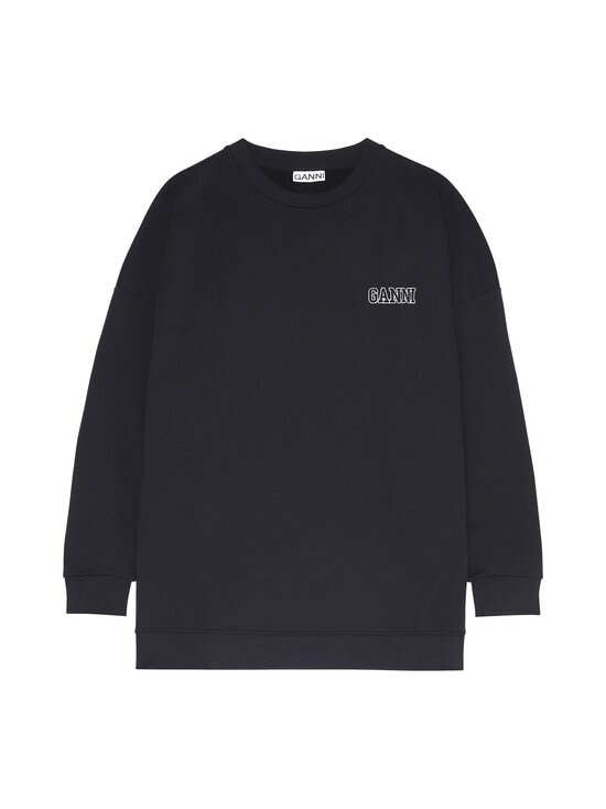 Ganni - Software Isoli Oversized Sweatshirt -collegepaita - BLACK 099 | Stockmann - photo 1