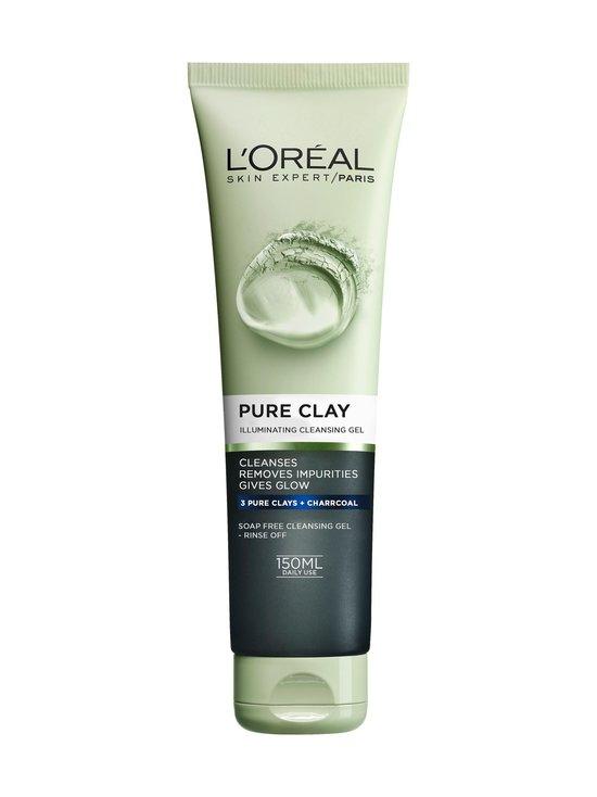 L'Oréal Paris - Pure Clay Illuminating Cleansing Gel -heleyttävä puhdistusgeeli 150 ml - 10 | Stockmann - photo 1