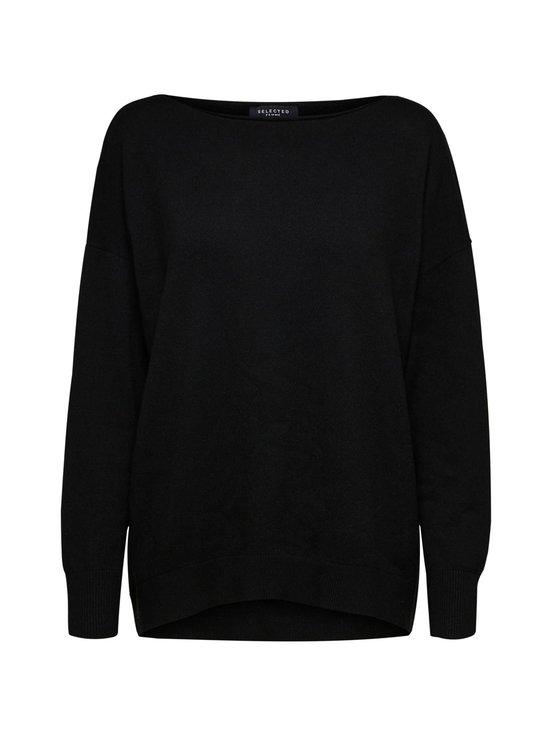 Selected - SlfNaya Cashmere LS Knit Boatneck -neule - C-N10 BLACK | Stockmann - photo 1