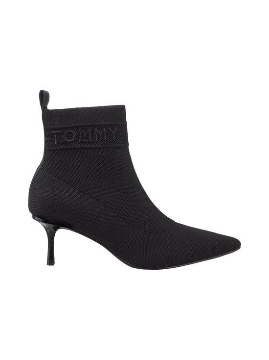 Tommy Hilfiger - Knitted Sock Kitten Heel -nilkkurit - BDS BLACK | Stockmann - photo 1