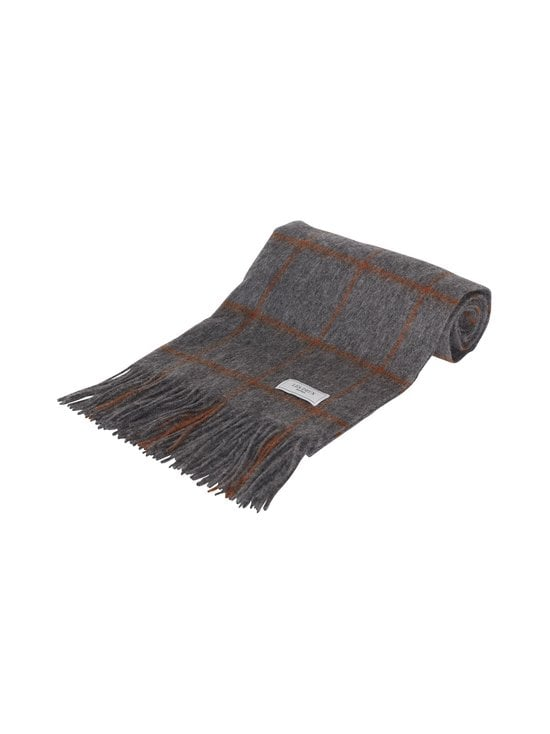 Check Wool Scarf -villahuivi