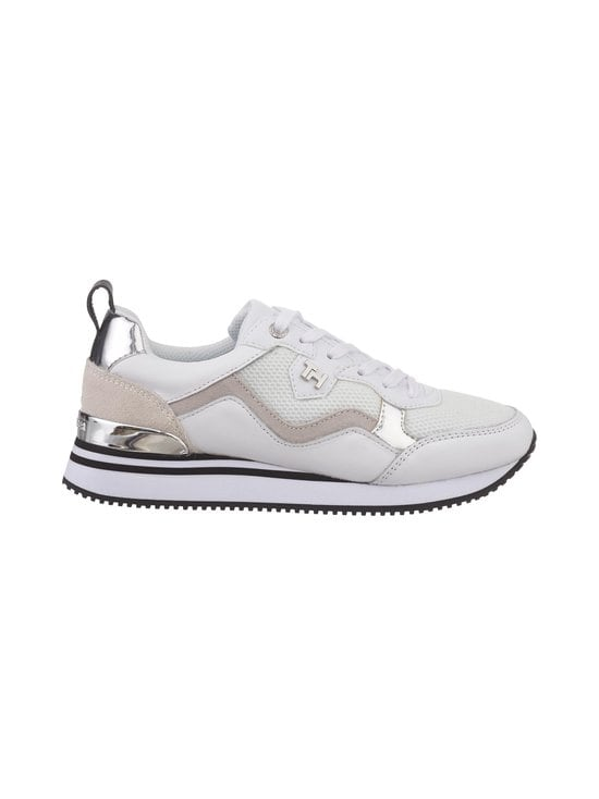 Tommy Hilfiger - Active City Mixed Panel -sneakerit - 0K8 WHITE/ SILVER | Stockmann - photo 1