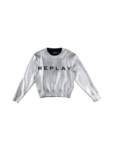 Replay & Sons - Neule - 010 GROUND BLACK FOIL SILVER | Stockmann