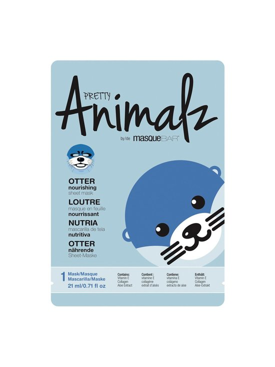 Pretty Animalz Otter Mask -kangasnaamio 21 ml