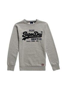 Superdry - Vintage Logo Chenille Crew Sweat -collegepaita - 07Q GREY MARL | Stockmann