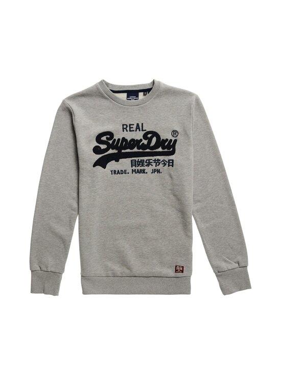 Superdry - Vintage Logo Chenille Crew Sweat -collegepaita - 07Q GREY MARL | Stockmann - photo 1