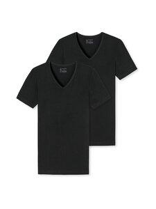 Schiesser - 2-pack V-neck -paita - 000 BLACK | Stockmann