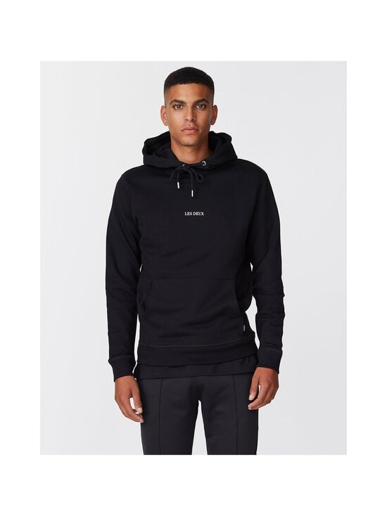 Les Deux - Lens Hoodie -huppari - 100201 - BLACK/WHITE | Stockmann - photo 3