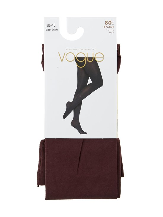 Vogue - Opaque 3D -sukkahousut 80 den - 8739 BLACK GRAPE | Stockmann - photo 1