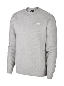 Nike - Club-fleecepaita - DK GREY HEATHER/WHITE 063 | Stockmann