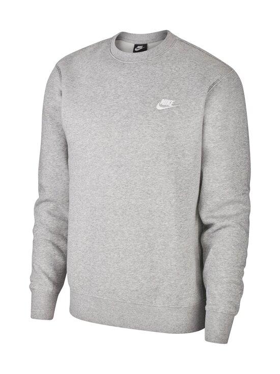 Nike - Club-fleecepaita - DK GREY HEATHER/WHITE 063 | Stockmann - photo 1