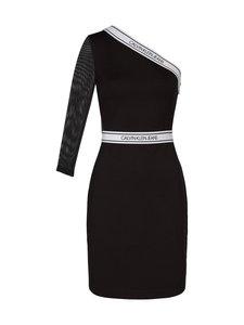 Calvin Klein Jeans - Asymm Milano Logo Fitted Dress -mekko - BAE CK BLACK   Stockmann