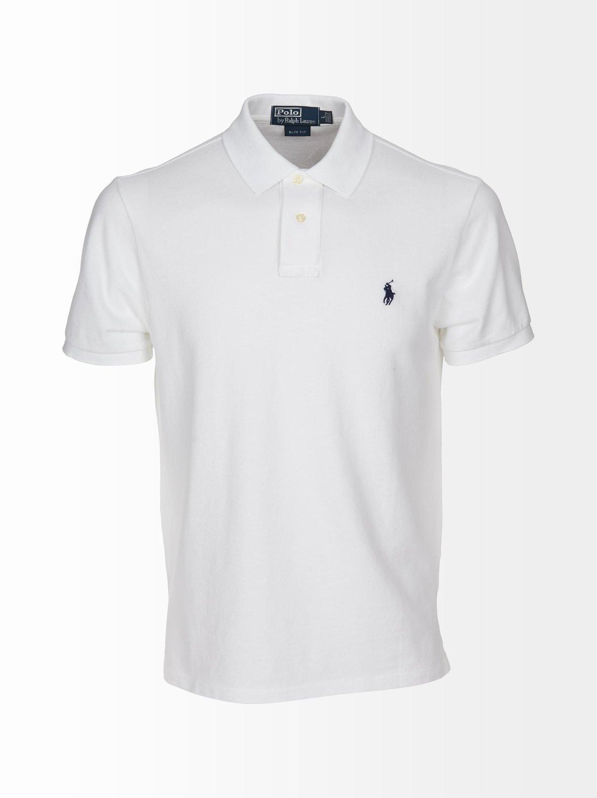 Valkoinen Polo Ralph Lauren miesten pikeepaita logolla  38b27366c7