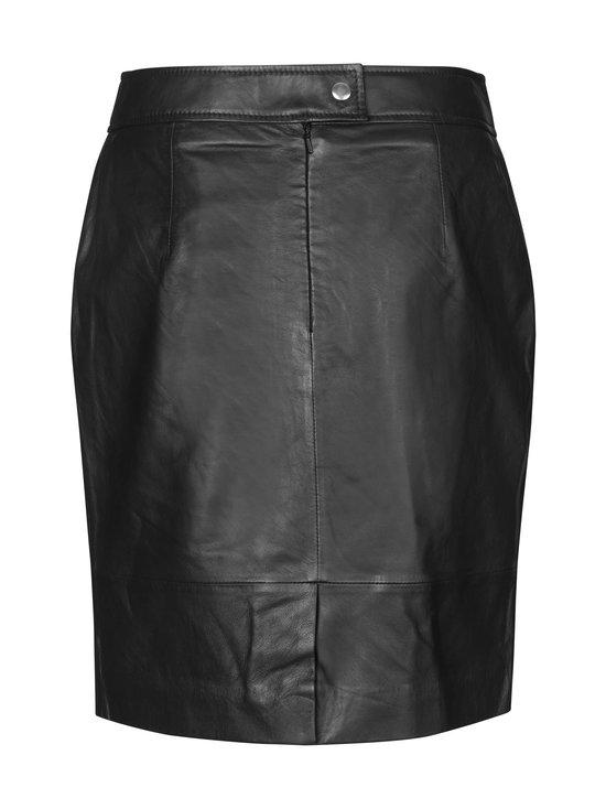 SECOND FEMALE - Francie Mini Leather Skirt -nahkahame - 8001 BLACK   Stockmann - photo 2