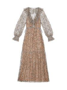 Self-Portrait - Ruffle Leaf Sequin Midi Dress -mekko - LIGHT GREY   Stockmann