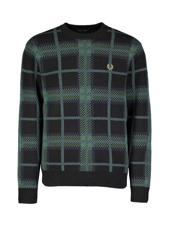 Fred Perry - Tartan C-Neck Jumper -neule - 102 BLACK | Stockmann - photo 1