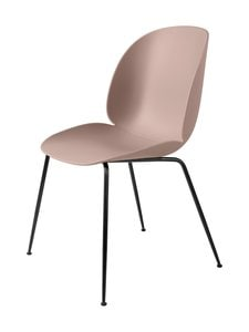Gubi - Beetle-tuoli - BLACK MATT BASE, SWEET PINK, PLASTIC GLIDES | Stockmann