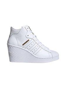 adidas Originals - Superstar Ellure -nahkakengät - CLOUD WHITE/GOLD METALLIC/CORE BLACK | Stockmann