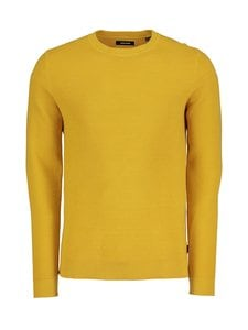 Jack & Jones - JjeLiam Knit Crew Neck -puuvillaneule - SPICY MUSTARD | Stockmann