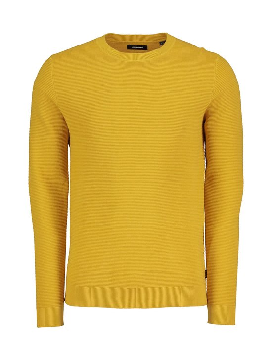 Jack & Jones - JjeLiam Knit Crew Neck -puuvillaneule - SPICY MUSTARD | Stockmann - photo 1