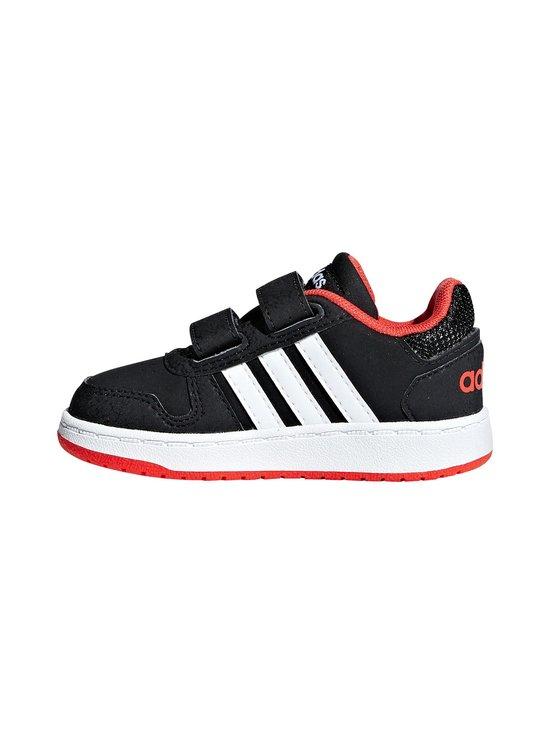 adidas Performance - Hoops 2.0 -kengät - CORE BLACK / CLOUD WHITE / HI-RES RED | Stockmann - photo 4