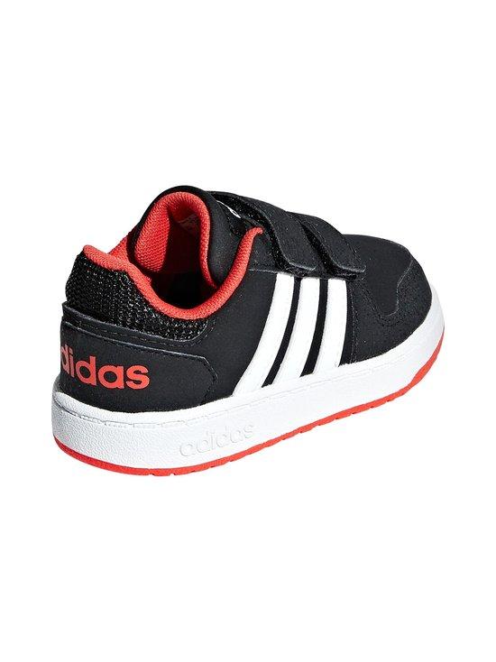 adidas Performance - Hoops 2.0 -kengät - CORE BLACK / CLOUD WHITE / HI-RES RED | Stockmann - photo 5
