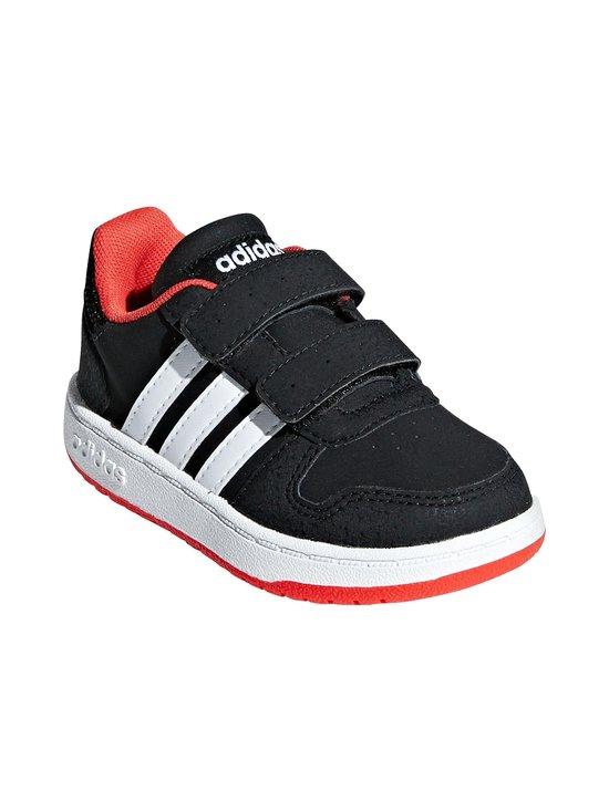 adidas Performance - Hoops 2.0 -kengät - CORE BLACK / CLOUD WHITE / HI-RES RED | Stockmann - photo 6