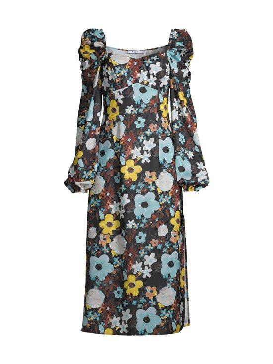 NA-KD - Puff Shoulder Midi Dress -mekko - BLACK FLOWER | Stockmann - photo 1