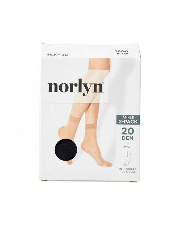 Norlyn - Silky 3D 20 den -nilkkasukat 2-pack - BLACK | Stockmann - photo 1