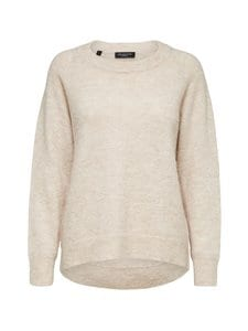 Selected - SlfLulu LS Knit O-Neck -neule - 13-0905 TCX BIRCH | Stockmann