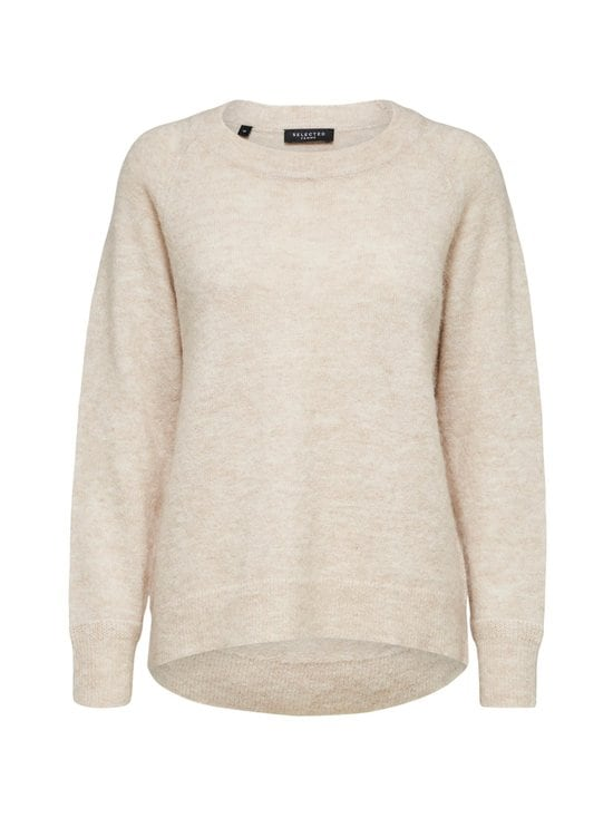 Selected - SlfLulu LS Knit O-Neck -neule - 13-0905 TCX BIRCH | Stockmann - photo 1