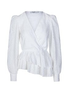 NA-KD - Crochet Wrap Top -pusero - WHITE | Stockmann