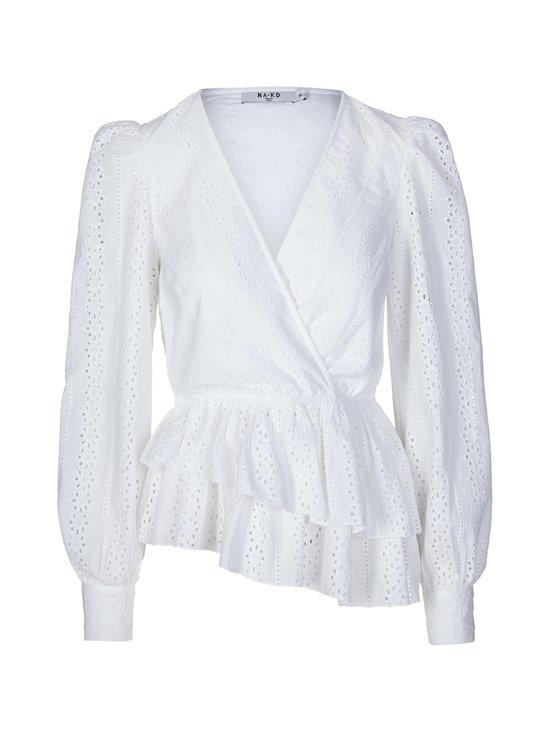 NA-KD - Crochet Wrap Top -pusero - WHITE | Stockmann - photo 1