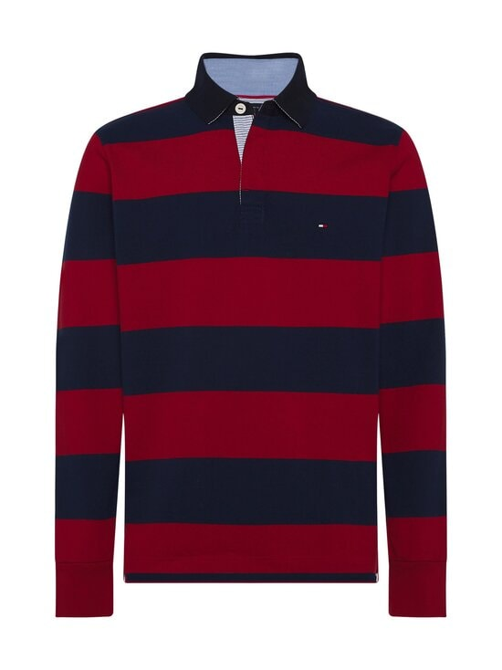 Tommy Hilfiger - Tommy Hilfiger Iconic Block Stripe Rugby -paita - 0EV ARIZONA RED / NIGHT SKY | Stockmann - photo 1