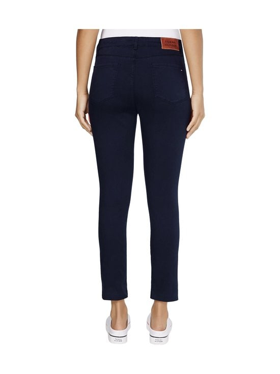 Tommy Hilfiger - Skinny Stretch Cotton Garment Dyed Trousers -housut - DW5 DESERT SKY | Stockmann - photo 2