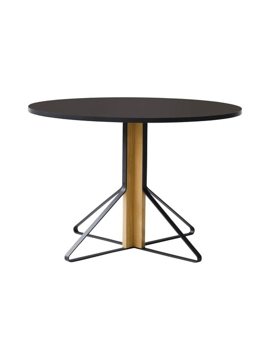 Artek - REB004 Kaari -pöytä, linoleum - BLACK LINOLEUM/NATURAL OAK (MUSTA/TAMMI) | Stockmann - photo 1
